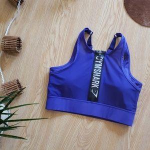 Gymshark sports bra front zipper spell out